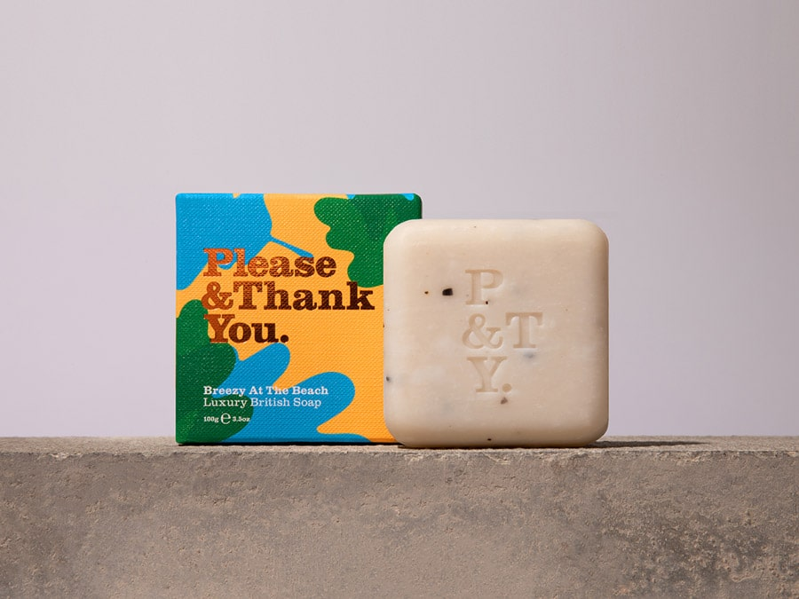 Luxury hand soap bar with seaweed flakes